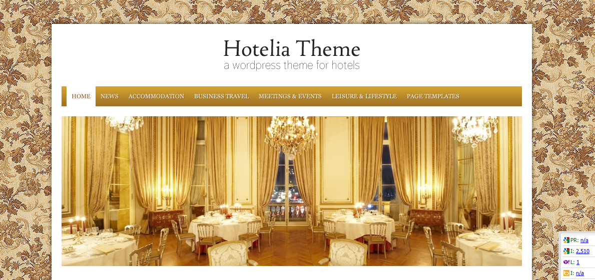 Hotelia Thème