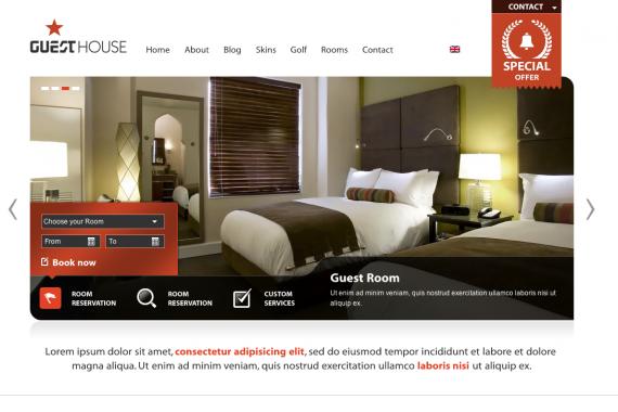 Thème Wordpress GuestHouse Hôtel