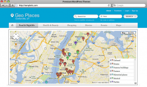 Geo Places thème wordpress localisation