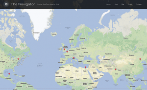 The Navigator theme WordPress avec Carte Geolocalisation